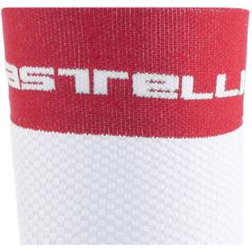 Castelli Free 9 Socks white/red